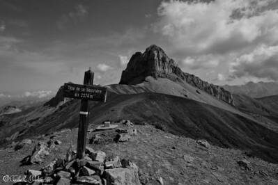 Les crêtes près du col d'Allos, Alpes du Sud, 28-06-2012.