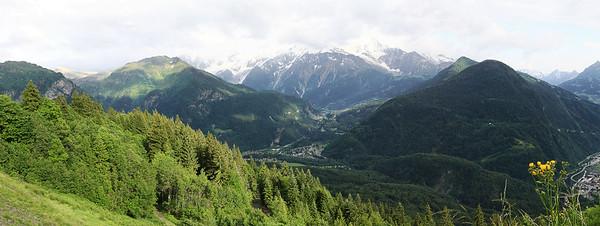 Vue depuis le Plateau d'Assy (Praz Coutant - 1170 m) - 2015