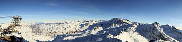 Panorama sur la vallée (Val-Thorens) depuis la Cime de Caron (3200 m) -2014