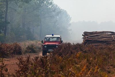 FEUX de Forêt entre Sanguinet et Parentis - Landes (France)