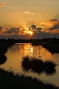 Coucher de soleil à Audenge sur le Bassin d'Arcachon