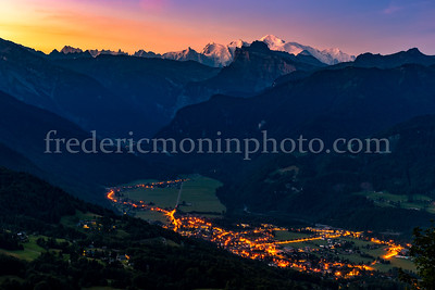 Colors on the massif of Mont Blanc