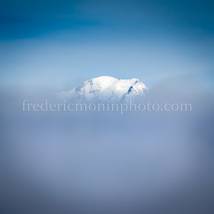 Mont-Blanc in the clouds