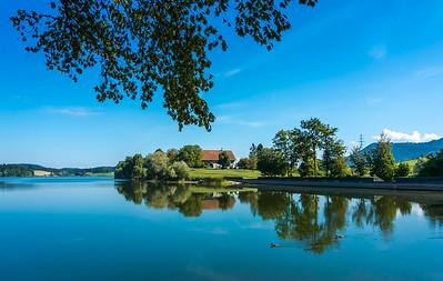 Lac de Bret, Puidoux, Suisse