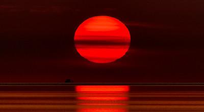 Coucher de soleil , Avon, Cape Hatteras, North Carolina