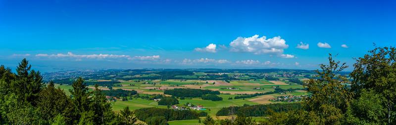 Panorama vu de la tour de Gourze
