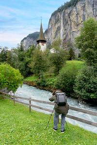 Serge Ramelli, photographe français, à Lauterbrunnen