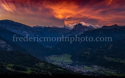 Sunrise the Mont-Blanc