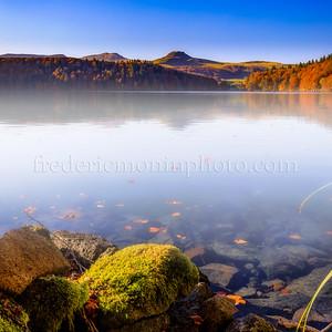 Pavin lake in Auvergne.