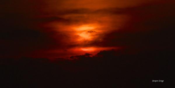 Coucher de Soleil , Cap Hattéras le 25 juillet 2012