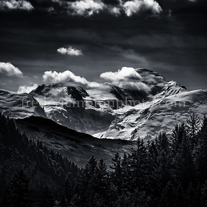 Le Mont-Blanc vue des Allamands au dessus de Samoens