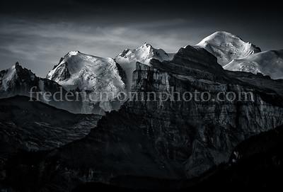 Sunrise the Mont-Blanc in B/W ...
