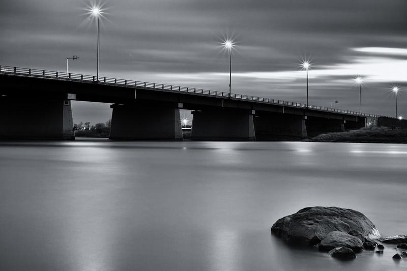 Bridge and river near Montreal
