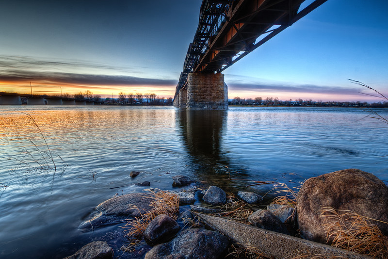 Railway bridge in Montreal