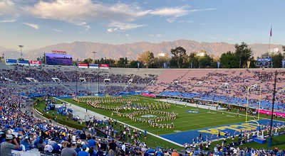 The Rose Bowl is a very cool place to see a football game in the shadow of the San Gabriel mountains.