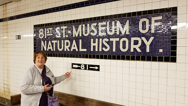 taking the subway to MOMA