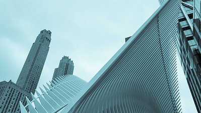 westfield wtc - really interesting building (and there's a blue bottle coffee shop there too).