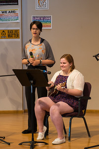 kk and rachel giving me a great father's day gift - singing together and letting us all enjoy it too.