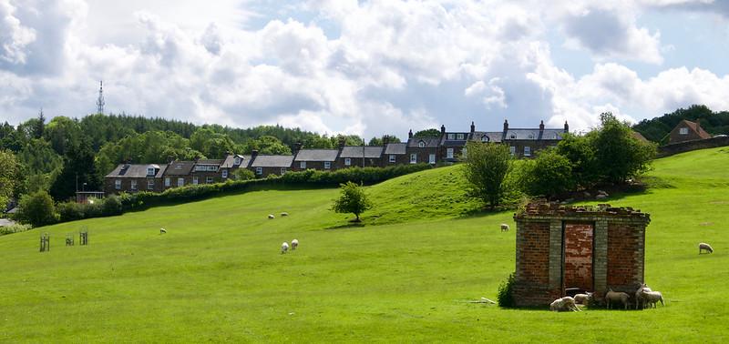 Prvé domčeky dedinky Glaisdale
