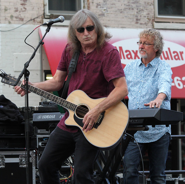 Peabody, Ma. 9-10-17. Ted Solovicos and Steve Coffill from the Mystical Magic Trio performing at the 31st annual International Festival in Peabody Center.