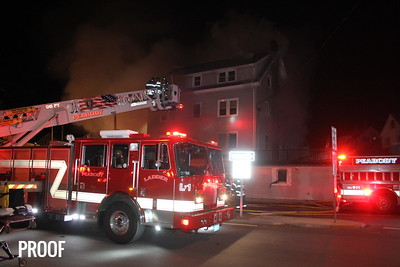 Peabody MA 12-25-16,  3rd alarm fire 168 Washington Street.