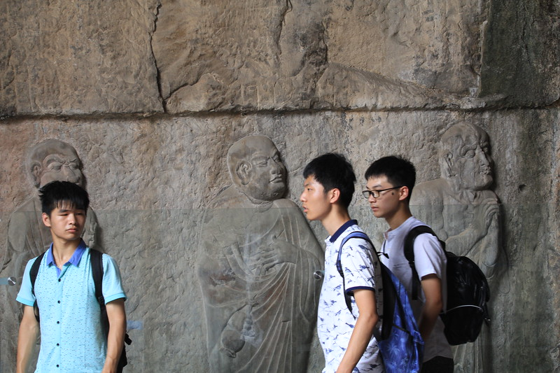 Visitors to the Longmen Grottoes encounter some of China's most outstanding Buddhist art, carved directly into the rock outcrops. The 29 statues in the Royal Cave Temple show 'arhat' monks progressing to enlightenment and date to the Tang Dynasty. June 24, 2017