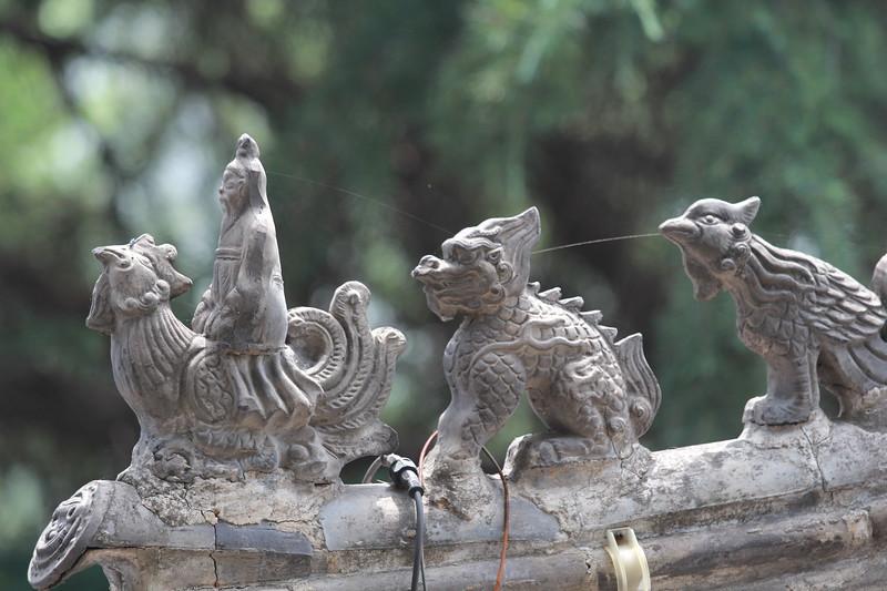 Detail from Xiangshan Temple, Longmen Grottoes. June 24, 2017