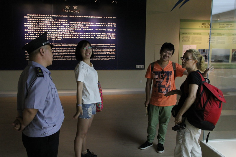 We made a lot of friends at the Anyang museum, including this security guard who wanted to make sure we saw the most interesting bronzes and this young man who urged us to visit the Erlitou site. June 20, 2017