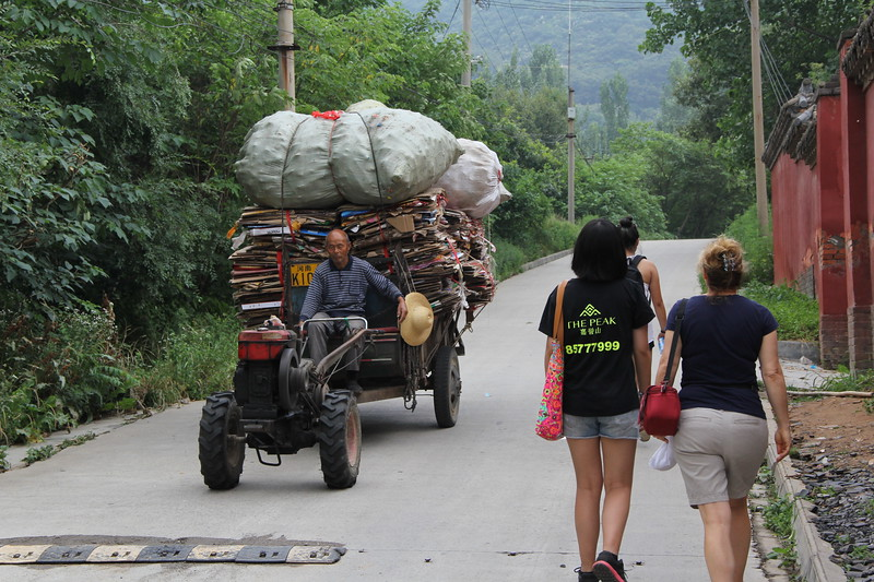 This is the trek up the road from the Shaolin Temple to the Shaolin village, home of many Gongfu schools and our home for the night. June 21, 2017