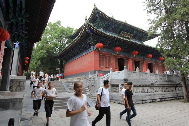 Gongfu students training at Shaolin Zhongyue Temple. June 21, 2017