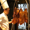 A duck dinner in Beijing's Qian Men hutong includes very specific preparation and carving techniques, as well as an array of sauces and condiments. This chef is selecting our duck! June 18, 2017
