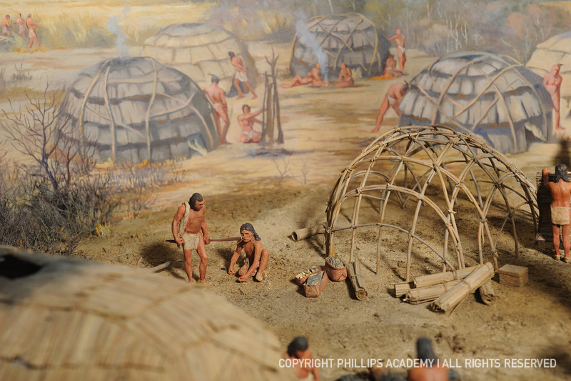 Diorama of American Indian life on the Merrimack River by Theodore Pitman. Photograph by Gil Talbot.