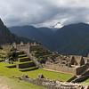 Panoramic view of the ancient Inca ruins of Machu Picchu, Peru.