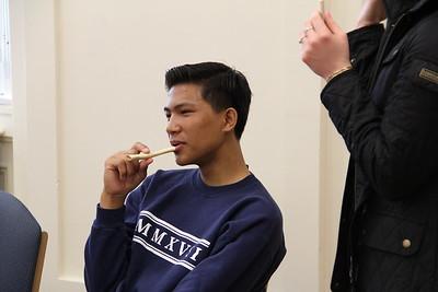 Human Origins 2016--bone flute making