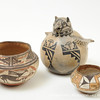 Pueblo pottery vessels, early twentieth century, New Mexico. Photograph by Gil Talbot.