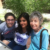 Students hanging out with Dr. Linda Cordell (a National Academy of Science scholar).