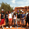 Group at the end of the nature trail at Red Rocks