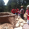 Touring Aztec Ruin with Park Ranger Mike.  Ranger Mike was a Pecos Pathways 2008 participant… where do the years go?!?