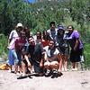 Students near Jemez Pueblo.