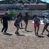 Students playing Shinny Stick
