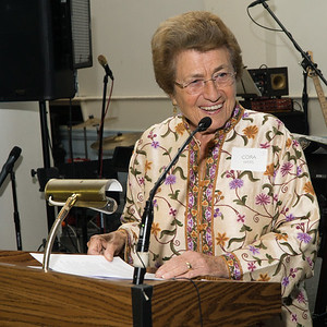 Cora Weiss, veteran peace and justice activist and leader, will introduce one this year's honorees, Judy Lerner. Weiss spoke of her years in the peace movement and past and present issues that challenged world peace throughout the years.