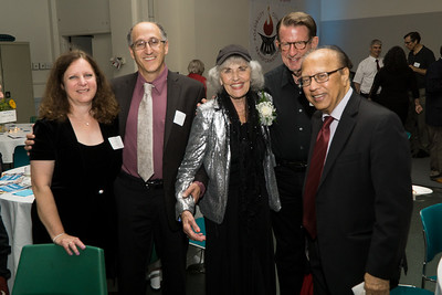 Honoree Judy Lerner (right) with friends.