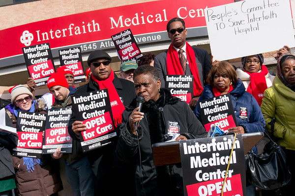 Annette Robinson, Assembly Member from the 56th District, gave a blistering speech that demanded the hospital be funded and kept as a vital, full-service community health facility.
