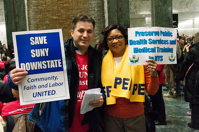 Gail, of PEF and a friend at the rally.