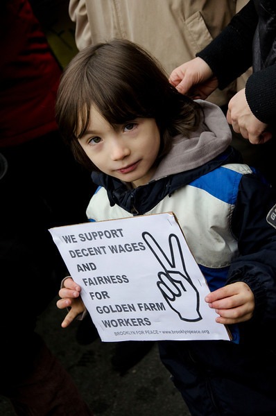 A young supporter.
