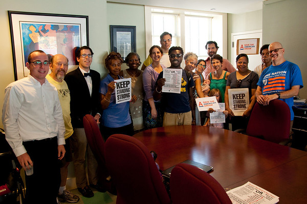 """Brooklynites say """"Stand Strong"""" to Rep. Clarke"""