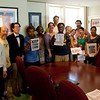 The delegation to Yvette Clarke's office included a diverse group of Brooklyn residents.