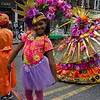 Beautiful young marchers in the opening parade at the Flatbush Frolic.