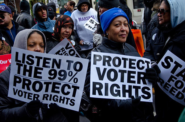 Marching To Defend Democracy And Voting Rights