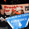 Gathering at Foley Square ... getting ready to march on the Brooklyn Bridge.<br /> <br /> - Photo by Sam K.
